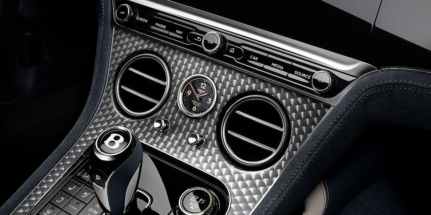 <new-bentley-continental-gt-speed-convertible-centre-console-in-dark-tint-engine-turned-aluminium-veneer>